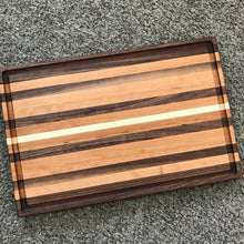 Walnut Maple Cherry Cutting Board with Juice Groove