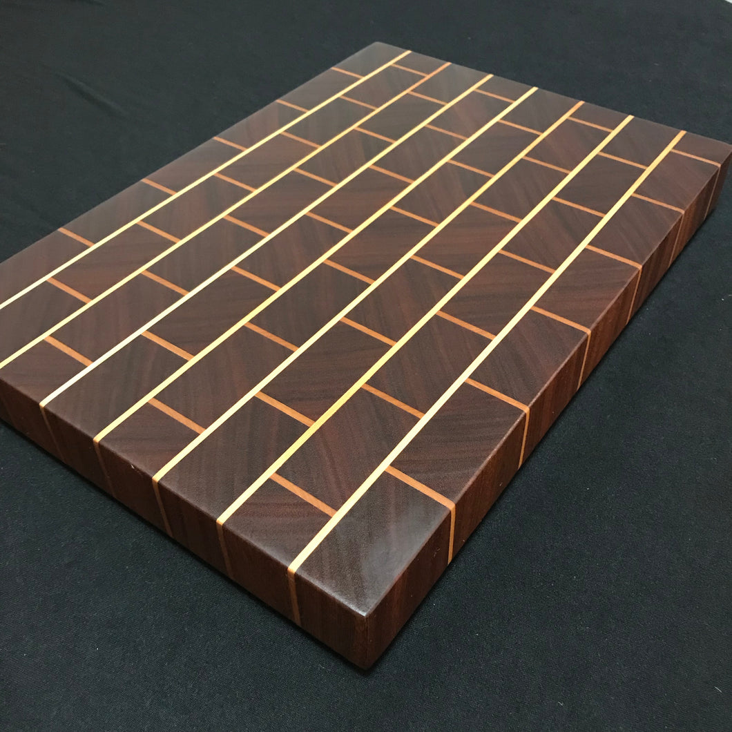 End Grain Brick Cutting Board