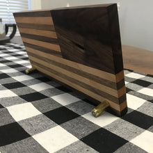 Hardwood American Flag Desk Art