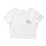 """The Future Is Female And Black."" White Crop Tee"