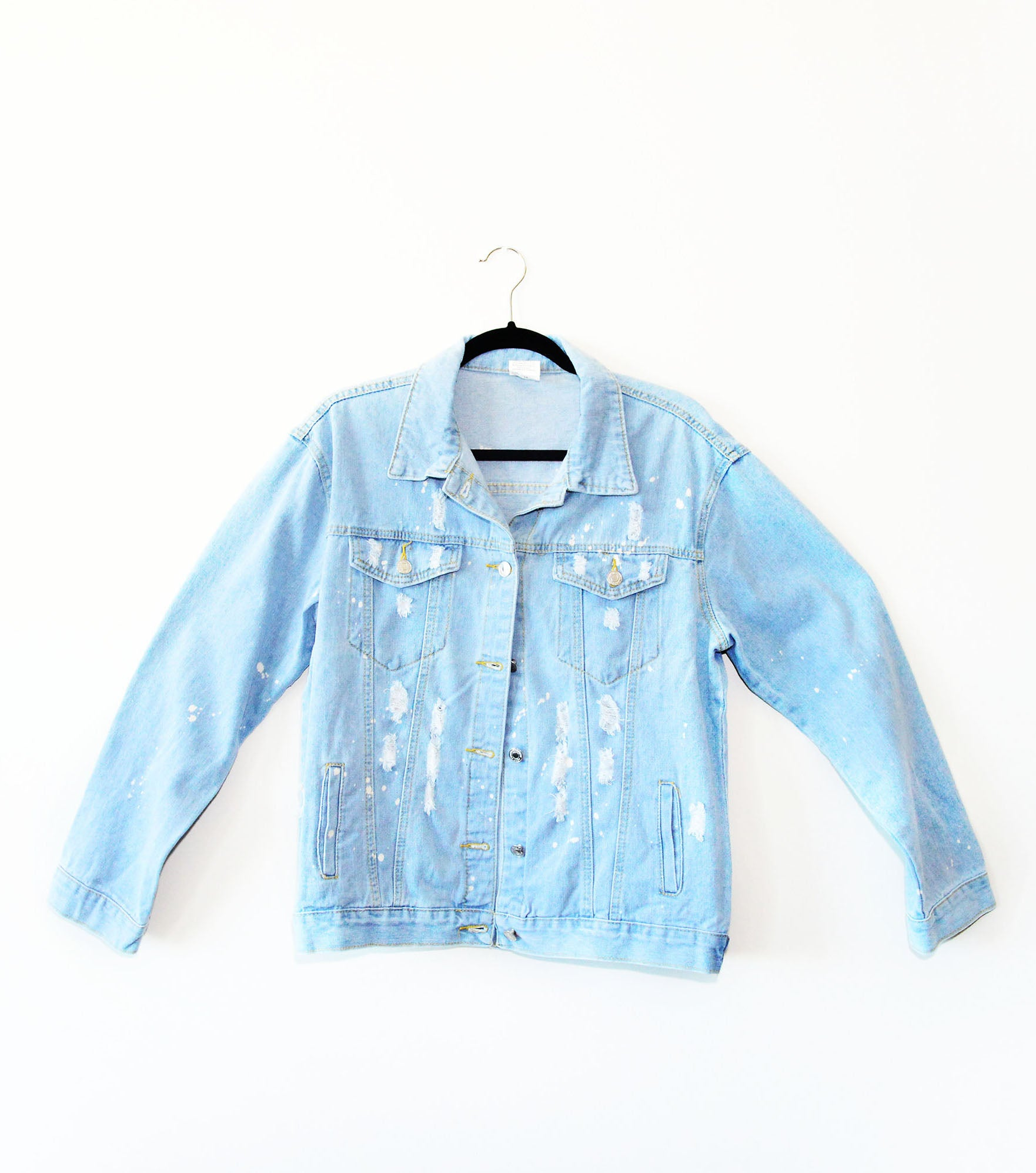 Equality Bleached Distressed Custom Denim Jacket - in + out apparel