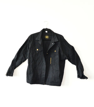 Black Distressed Denim Jacket - in + out apparel