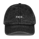 """FREE."" Distressed Hat"