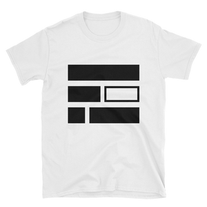 """E""quality (Black) Short-Sleeve Unisex White T-Shirt - in + out apparel"