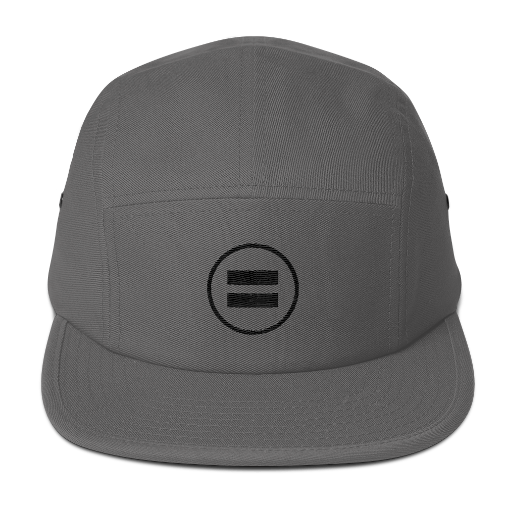 Equality (Black) Five Panel Gray Cap - in + out apparel