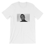 """James"" Short-Sleeve White Unisex T-Shirt - in + out apparel"
