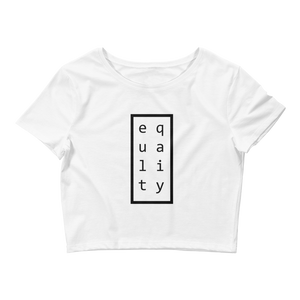 Equality White Crop Tee - in + out apparel