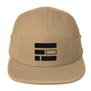 "Embroidered ""E""quality (Black) Five Panel Khaki Cap - in + out apparel"