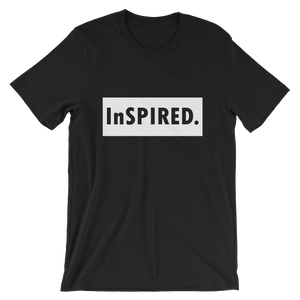 """InSPIRED"" Short-Sleeve Unisex Black T-Shirt - in + out apparel"