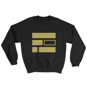 """E""quality (Gold) Black Sweatshirt - in + out apparel"