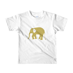 Elephant Short sleeve kids white t-shirt - in + out apparel