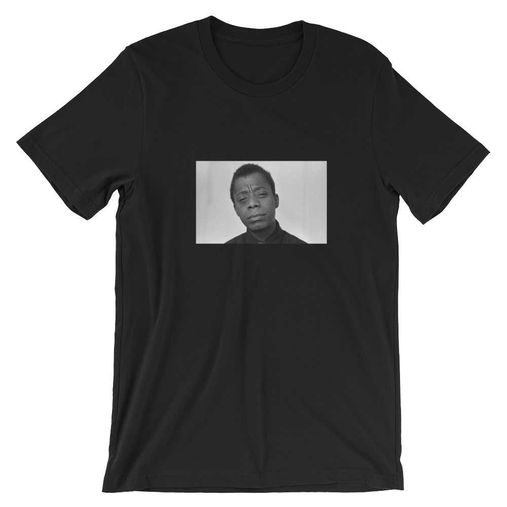 """James"" Short-Sleeve Unisex Black T-Shirt - in + out apparel"