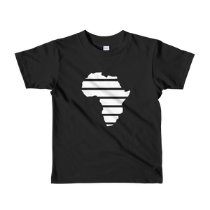 """Africa"" (White) Short sleeve kids black t-shirt - in + out apparel"