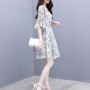 New Sweet Slim Thin Floral Temperament Dress