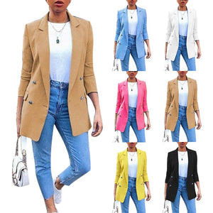 Office Lady Long Sleeve Suit Jacket