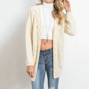 Long Cardigan Long Sleeve Knitted Sweater