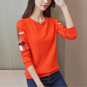 Flower Casual Warm Knitted Sweaters