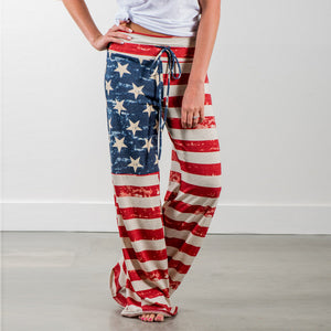 America Flag Printed Trouser