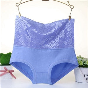 High Wasit Flower Lace Panties