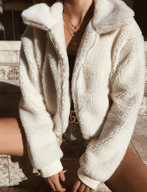 Casual Faux Fur Coat