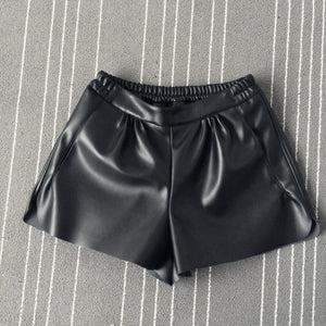 Edgy Leather Shorts