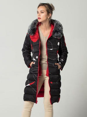 With fur hooded Winter Jacket