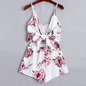 Casual Slim Sleeveless Playsuits