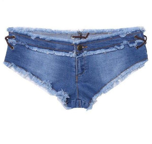 Waist Low Casual Jean Shorts