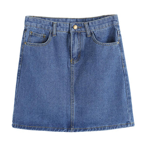 High Waist Bodycon Jeans Denim Mini Skirt