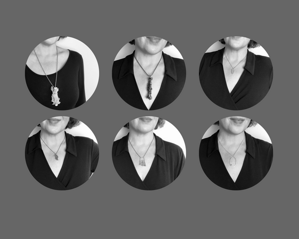Six round images of CLSwol modeling pendants