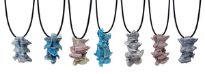 Stacked Tyvek Pendants