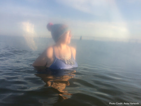 Artist Wearing Necklace in the Water