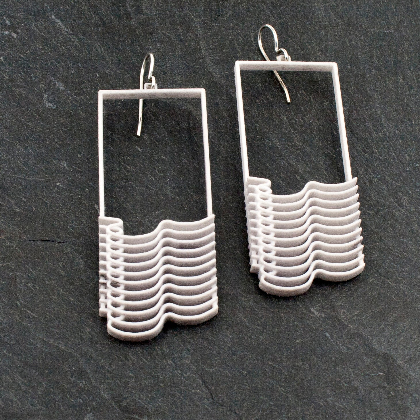 Plastic Waves Earrings