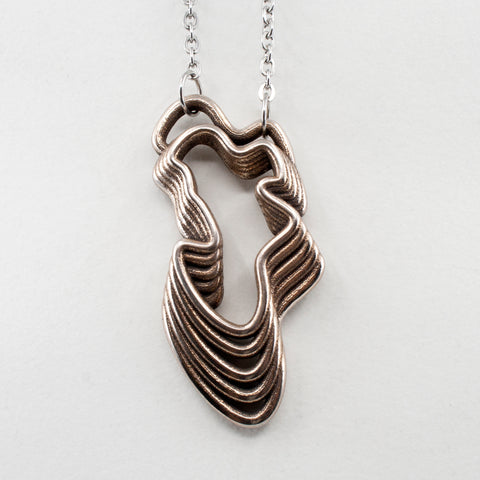Steel Water Waves Curvy Pendant