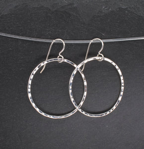 Sterling Circle Earrings