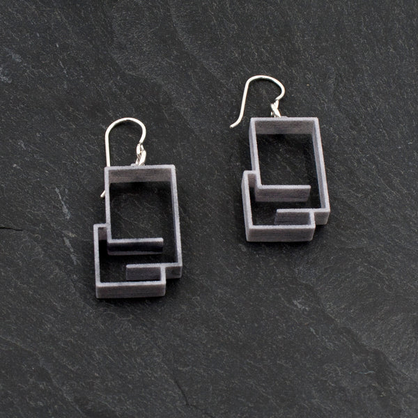Plastic Linear Modern Earrings
