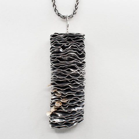 Hoodoo / Sea Stack Pendant-Sterling and Gold
