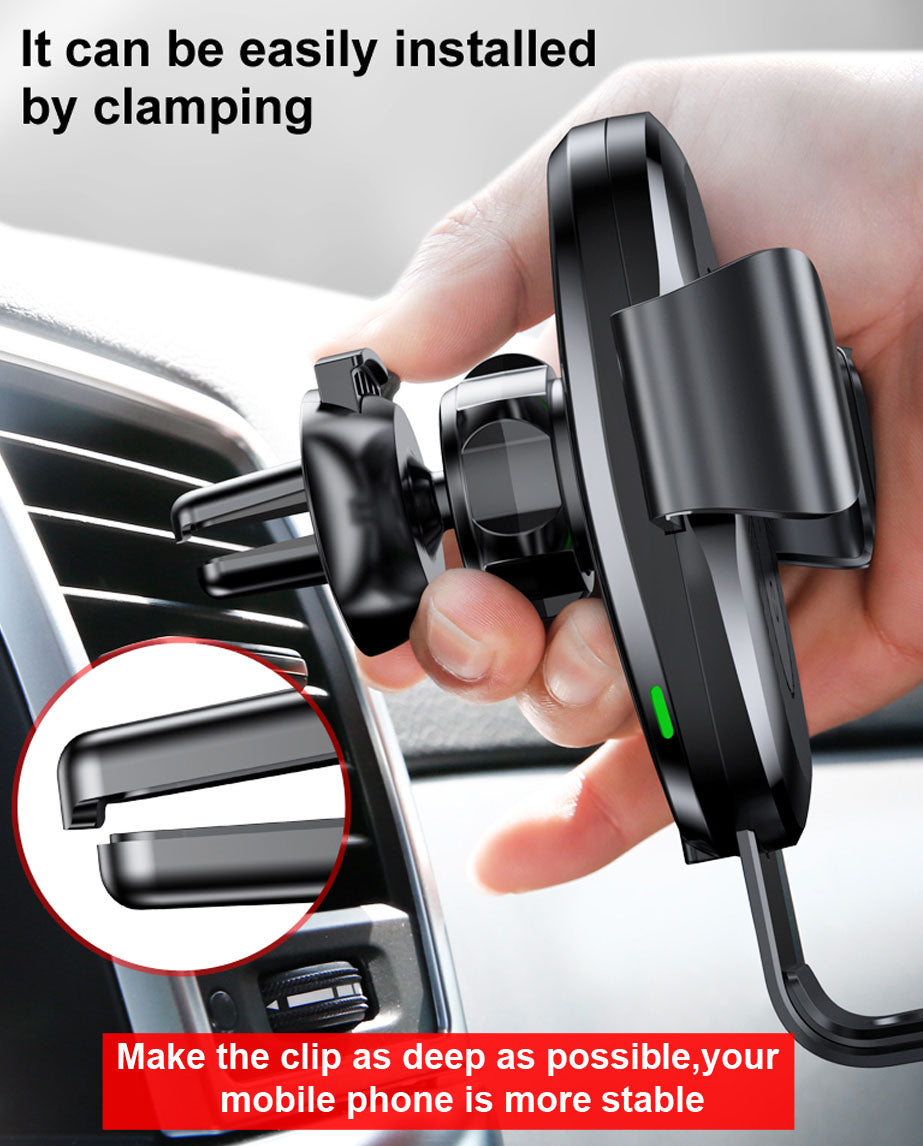 Fast Wireless Car Charger Mount
