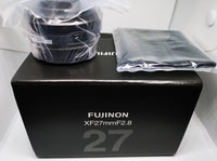 NEW Pancake Lens Fujinon XF 27mm F2.8 Black