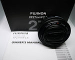 USED MINT Pancake Lens Fujinon XF 27mm F2.8 Black