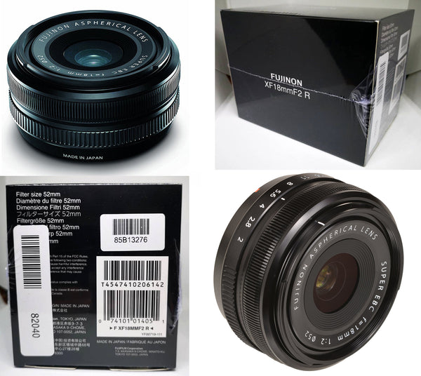 NEW SEALED BOX Fujinon XF 18mm F2 R Lens WITH WARRANTY (NO DATE STAMP)