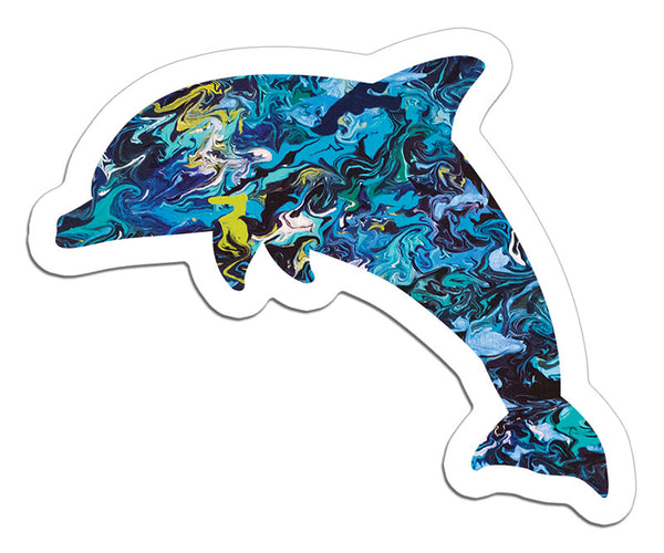 mini Dolphin Art Sticker