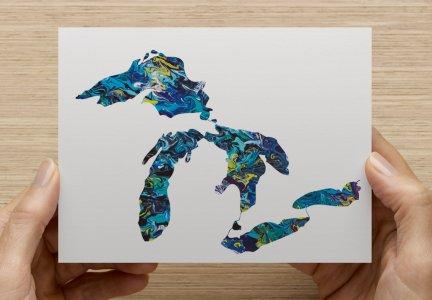 The Great Lakes Note Card