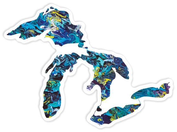 Great Lakes Lakes Sticker