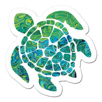 mini Sea Turtle Art Sticker