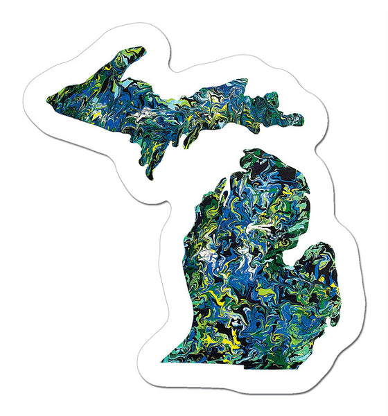 mini Michigan Art Sticker