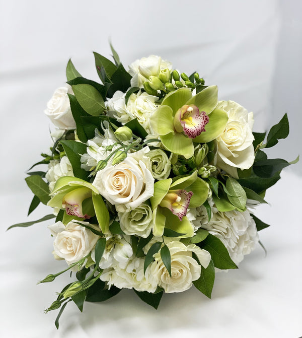Classic White Hand-Tied Bouquet