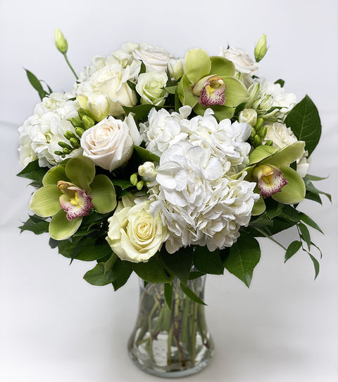 Classic White Tall Vase Arrangement