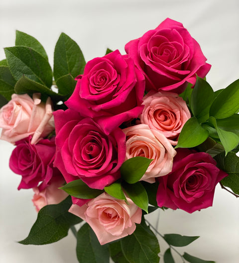 Shades of Pink Rose Bouquet