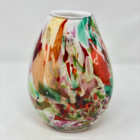 Fidrio Vase Colourful Tear Shape